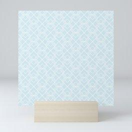 Blue Glass Scandinavian Geometric Pattern Mini Art Print