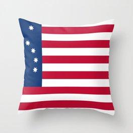 United States (Bennington '76) Flag Throw Pillow