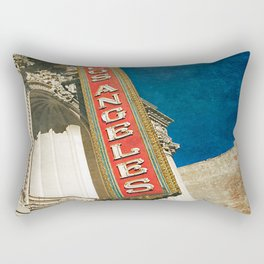 1931 Los Angeles Theatre Vintage Sign Rectangular Pillow