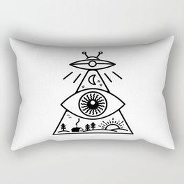 They Watch Us Rectangular Pillow