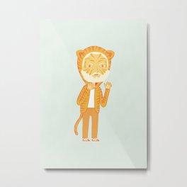 Tiger Man Metal Print