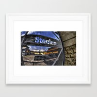 steelers Framed Art Prints featuring steelers by LMFK