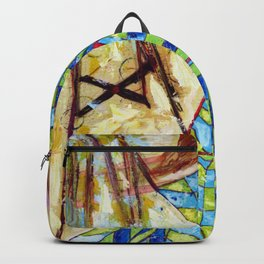 The Puppet: Abstract Acrylic Painting Backpack