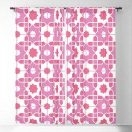 Portuguese Azulejos - Pink Palette Blackout Curtain