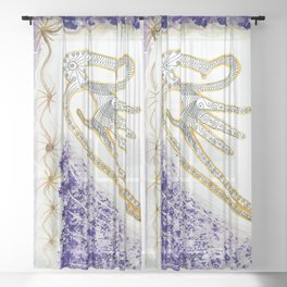 Flying Sound Sheer Curtain