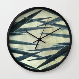 Yucca Leaves Abstract Wall Clock
