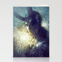 king Stationery Cards featuring King by Anna Dittmann