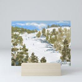 Tahoe-Skiing Art Mini Art Print