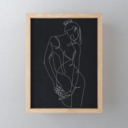 ligature - one line art - black Framed Mini Art Print