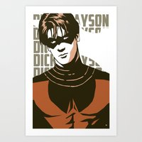 dick Art Prints featuring Dick by Shop 5