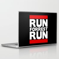 forrest gump Laptop & iPad Skins featuring Forrest Gump Run by Spyck