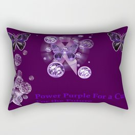 Power Purple For a Cure - For The Future Rectangular Pillow