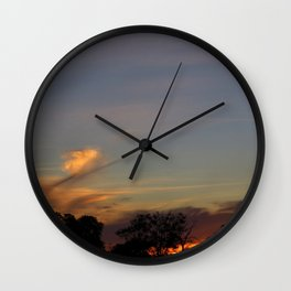Burning Out Wall Clock