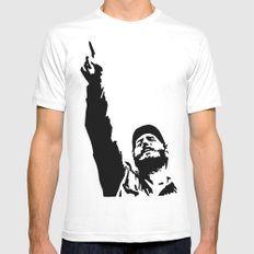 Fidel Castro Mens Fitted Tee White X-LARGE