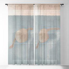 Weekend at my Pool I Sheer Curtain
