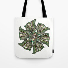 woman with sari mandala Tote Bag