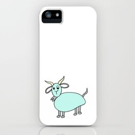 Hand drawn funny looking goat iPhone Case