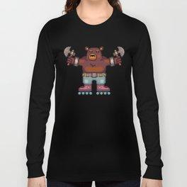 Travis the Bear Pixel Art Long Sleeve T-shirt