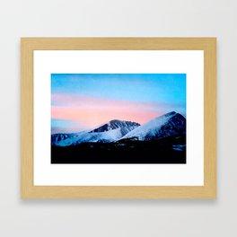 Cotton Candy Mornings Framed Art Print