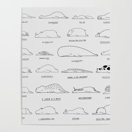 Moody Animals Pattern Poster