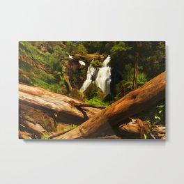 Trees and Falls Metal Print