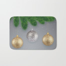 Christmas background Bath Mat