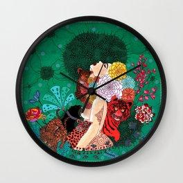 Miss Baghera Wall Clock