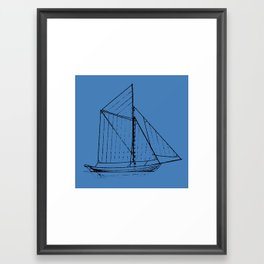 Eka Blue Framed Art Print