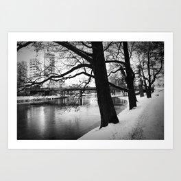 Winter in Sweden Art Print