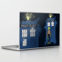 kermit Laptop & iPad Skins featuring Doctor Who Kermit by Roe Mesquita