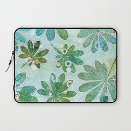 Dreamy green flowers Laptop Sleeve
