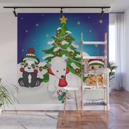 Wild Christmas! Wall Mural