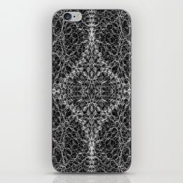 Diffract black and white iPhone Skin