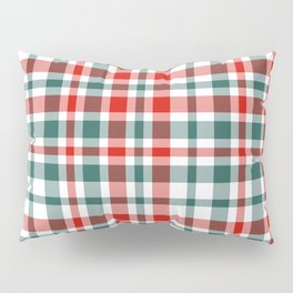 Plaid fall colors winter cool red and green natural plaids pattern Pillow Sham