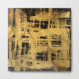 Gold Foil Paint Brush Metal Print