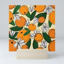 Oranges in Bloom Mini Art Print