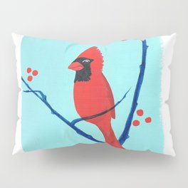 Cardinal Winter Berries Pillow Sham