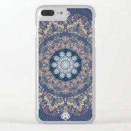 Blue's Golden Mandala Clear iPhone Case