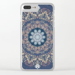 Blue's Golden Mandala Clear iPhone Case