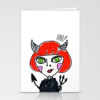 evil Stationery Cards featuring Evil by Amy Lee