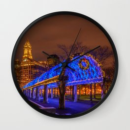 Boston, Christopher Columbus Waterfront Park Wall Clock
