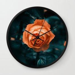 Looking Through || Rose Garden Wall Clock