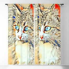 Animal ArtStudio 1119 Kitten Blackout Curtain