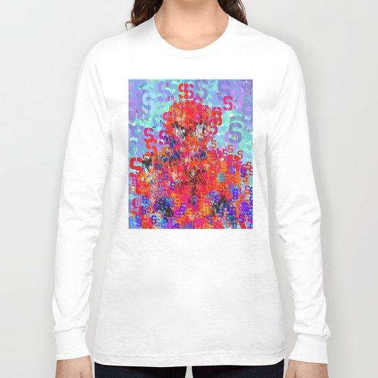 Spider Type Man - Abstract Pop Art Comic Long Sleeve T-shirt