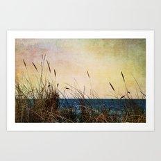 Afternoon at the Sea Art Print