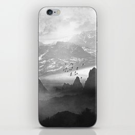 Black and White - Winter. Melody... iPhone Skin