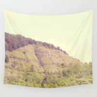 rocky Wall Tapestries featuring Rocky Mountain by Rose Etiennette