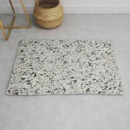 Black and white granite Rug