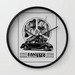 Panhard 1936 classic French art deco auto Wall Clock