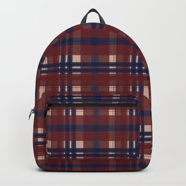 Plaid- Navy Red and Tan Backpack